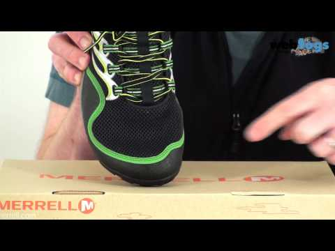 Merrell Men's Barefoot Running Trail Glove Shoes - Lightweight, Natural, Barefoot Running Shoes. video