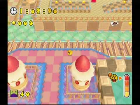 Namco Museum Remix Game Play {Wii} Pac 'N Roll 2