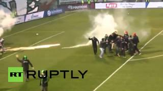 Greece: Violence erupts before Athens derby