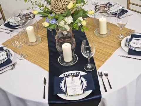Table Linen Inspiration Navy Blue Nautical Theme YouTube
