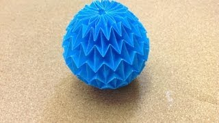 Daily Origami: 731 - Magic Ball By Yuri Shumakov
