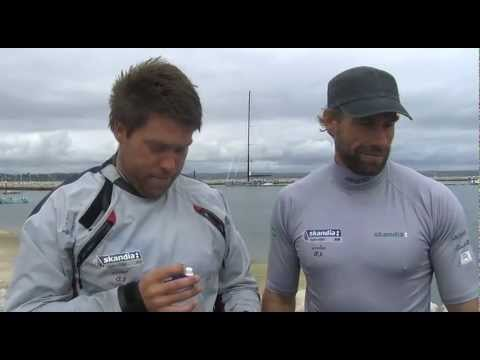 Iain Percy and Andrew Simpson reflect on winning a silver medal at the Olympic sailing test event