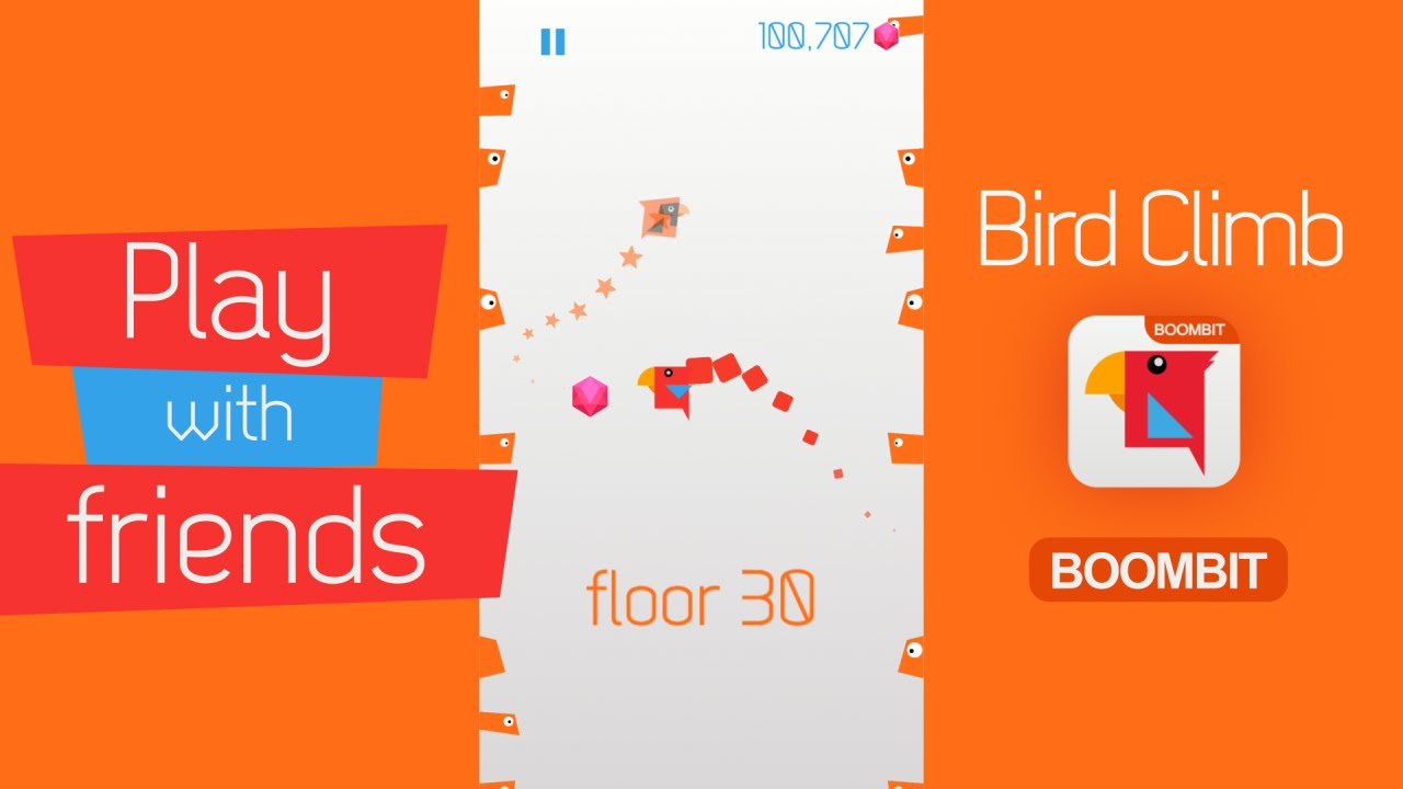 BIRD CLIMB by BoomBit Games | iOS App (iPhone, iPad) | Android Video Gameplay
