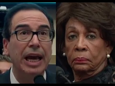Maxine Waters' HEATED EXCHANGE with Trump Lackey Steven Mnuchin