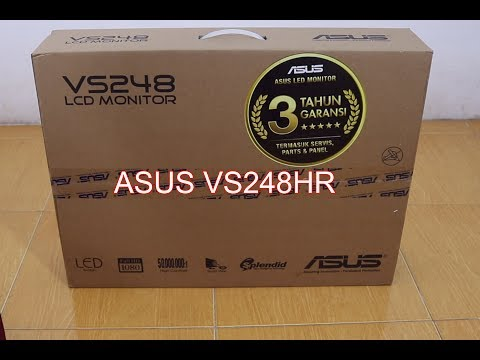 Unboxing Monitor LED Asus VS248HR 24 inci LCD 1ms termurah