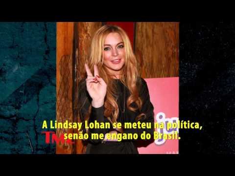 Lindsay Lohan declara apoio a Aécio Neves