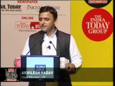 Akhilesh Yadav  Speech at India Today Mind Rocks Youth Summit 2012