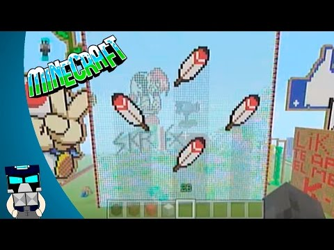 Tutorial pixel art Pluma de Mario en español Minecraft (Como hacer un pixel art