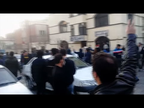 "Iranian Protesters Chant ""Down With Dictator"""