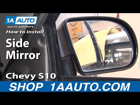How To Install Replace Side Mirror Chevy S10 Pickup Truck Blazer GMC S15 Sonoma Jimmy 1AAuto.com