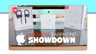 AirPods vs Beats X vs PowerBeats Wireless 3 - Apple Wireless Earphone Showdown