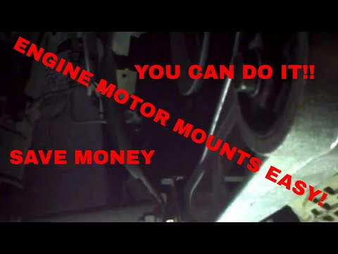 How to replace engine (motor) mounts upper and lower Dodge Neon