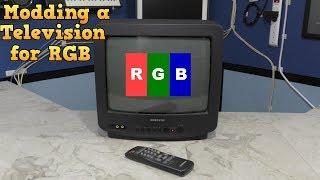 Modding a consumer TV to use RGB input