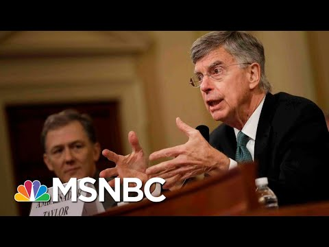 Nicolle Wallace Bill Taylor39s Bombshell Testimony Draws Direct Line To Trump  MSNBC