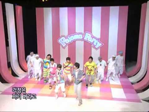 Superjuiorhappy - Pajama Party sbs Inkigayo 인기가요 20080803 video