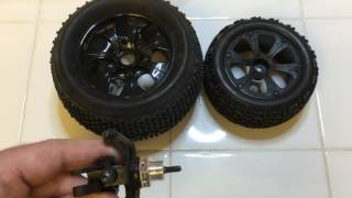 How to upgrade 1/10 RC car with 1/8 wheels using 17mm adapters
