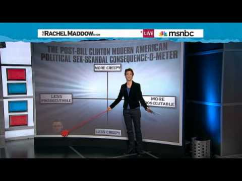 Rachel Maddow  The post-Bill Clinton modern American political sex-scandal consequence-o-meter