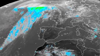 Europe percipation/clouds timelapse 30-10-2014