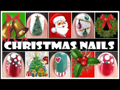 CHRISTMAS NAIL DESIGNS | XMAS HOLIDAY NAIL ART TUTORIALS FOR SHORT NAILS TREE ORNAMENTS EASY