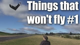 RC planes, flying and crashing