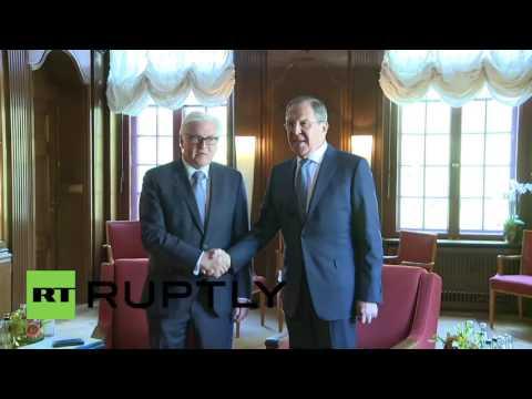 Germany: Lavrov and Steinmeier share joke ahead of 'Normandy Four' talks