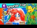 GIANT Play-Doh Lego Head Ariel Makeover! GLITZI Globes, Chocolate Egg HobbyKidsTV