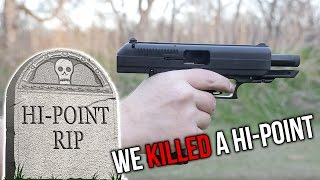 Shooting Power of a Ohio Made Hand Gun - 380 Hi Point Pistol During A Real Home Invasion !