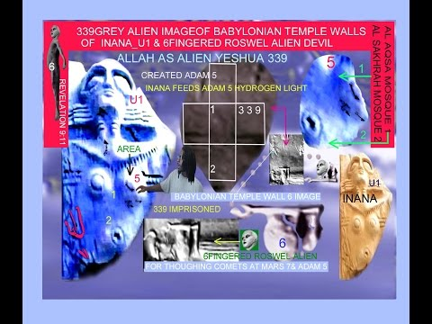 1000 GREY ALIEN ELOHIM OF THE TEMPLE MOUNT & AFRICAN ADAM 5 FACE ON MARS