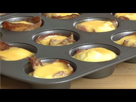 Breakfast Recipes - Ham and Cheese Egg Cups