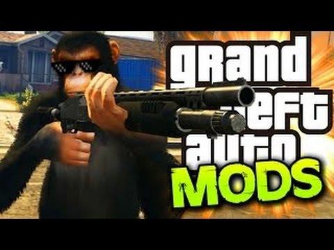 GTA 5 PC CARMAGEDDON MOD, MONKEYS & BODYGUARDS! (GTA 5 Funny Moments)