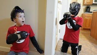 Twin vs Twin | Nerf War:  Black Panther
