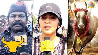 VJ Ramya and Imman Annachi Speech at Marina Protest   Jallikattu Ban