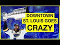 Downtown St. Louis Goes CRAZY After Blues Stanley Cup Win