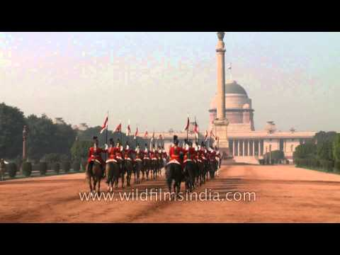 Changing of the Horse Guards at Rashtrapati Bhavan, Delhi