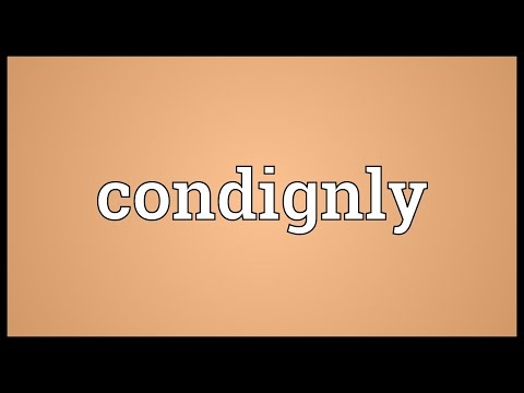 Header of condignly