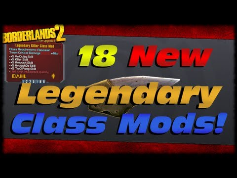 Borderlands 2 18 New LEGENDARY Class Mods Preview From Digistruct Peak Level 72 Upgrade!