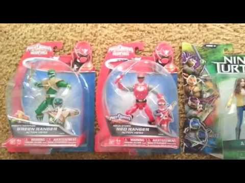 SMU Toys Haul (Power Rangers & Ninja Turtles), 7/10/2014