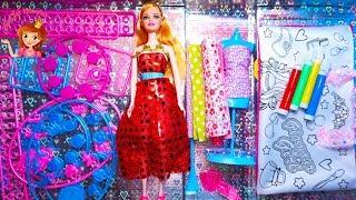 Unboxing Fashion Design Set Barbie Doll Fashion Designer Dream Fashion Show