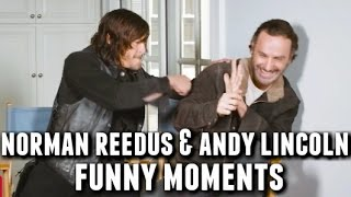 Norman Reedus and Andrew Lincoln Funny Bromance Moments