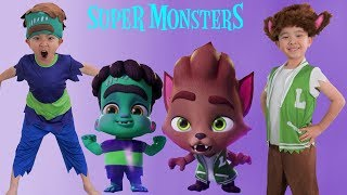 Halloween Costumes Super Monsters Surprise Toys Unboxing Fun With Ckn Toys