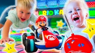 MARIO KART 8 IN REAL LIFE TOY TRICKS! RC CAR STUNTS!