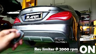 Mercedes-Benz CLA45 AMG launch start, high speed fly, cabin exhaust sounds w/ Armytrix exhaust!