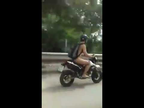 Man Driving Naked