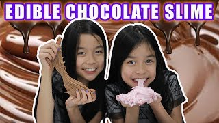 DIY EDIBLE CHOCOLATE SLIME | Tran Twins