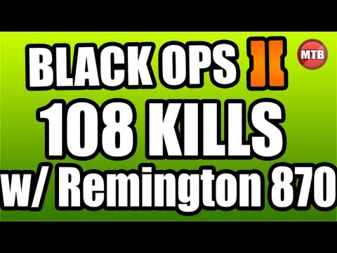 Black Ops 2: 108-9 On Raid w/ GOLD Remington 870!