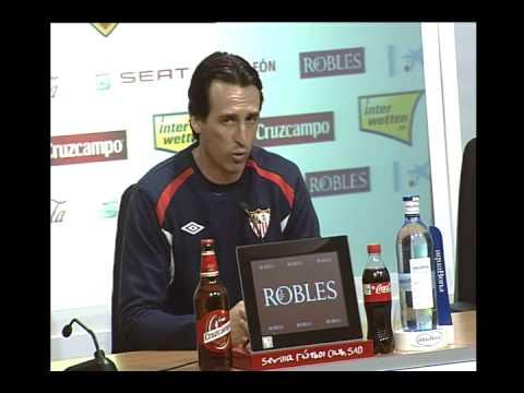 Rueda prensa Unai Emery. Sevilla FC