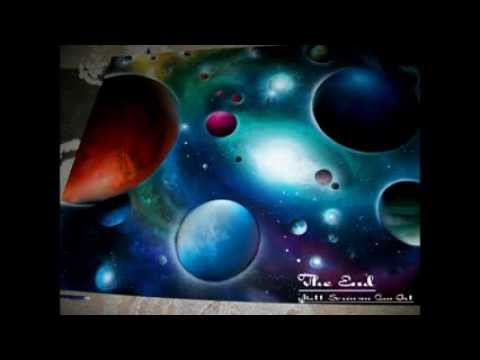 spray paint art open your eyes by matt sorensen universe art made with. Black Bedroom Furniture Sets. Home Design Ideas