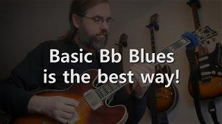 Basic Bb Blues! - Jazz Guitar Solo