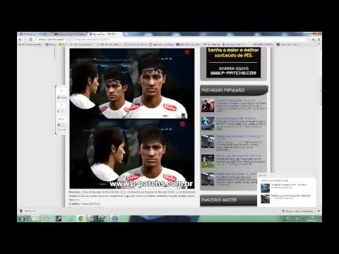 Tutorial colocar faces no PES 2013