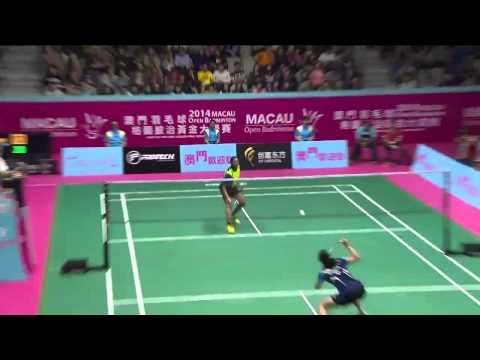 F - 2014 Macau Open - P. V. Sindhu vs Kim Hyo Min